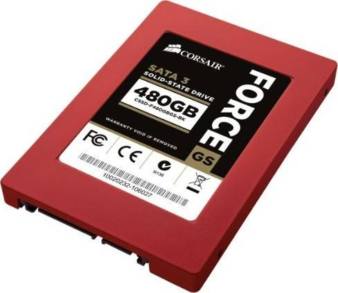 """Corsair Force Series GS Red 480GB (6Gb/s) SATA 3 2.5"""" SF2200 controller Toggle SSD 