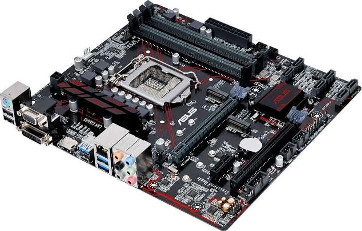 ASUS PRIME B250M PLUS Intel LGA 1151 mATX motherboard with LED lighting,  DDR4 2400MHz, dual M 2, Int