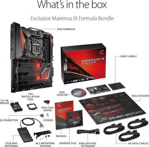 ROG ASUS Maximus IX Formula LGA1151 DDR4 DP HDMI M.2 Z270 ATX Motherboard with onboard AC Wifi and USB 3.1 | 90MB0RX0-M0EAY0