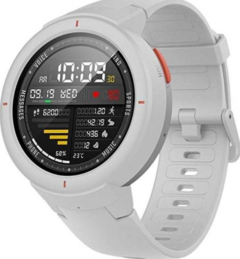 Xiaomi Amazfit Verge Smartwatch with Alexa Built-in, Answer Phone Calls, IP68 Waterproof - White   A1811