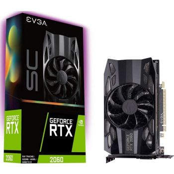 EVGA GeForce RTX 2060 SC, Overclocked, 2.75 Slot Extreme Cool, 70C Gaming, 6GB GDDR6, PCIe 3.0 16x, 192-Bit, 1 x HDMI 2.0b, 1 x DisplayPort 1.4, Graphics Card | 06G-P4-2062-KR