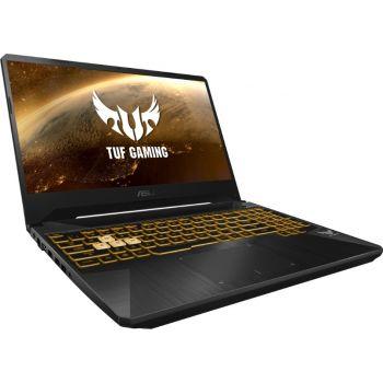 "Asus TUF Gaming 15.6"" FHD 144HZ Laptop, AMD Ryzen R7 3750H 2.3GHZ, 16GB RAM, 512GB SSD, 4GB NVIDIA GeForce GTX 1650 Graphics, Windows 10 Home, Eng-Arabic Keyboard, Gray   FX505DT-HN503T"