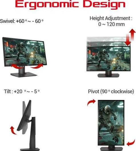 Image result for asus monitor Ergonomic design