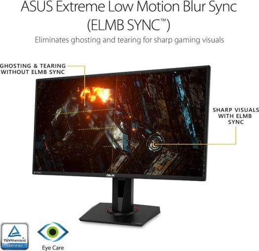 """ASUS TUF VG27AQ Gaming 27"""", 2560x1440 WQHD 2K Resolution, 155Hz 1ms, 2xHDMI/DisplayPort, Adaptive-Sync G-SYNC Compatible, Built-in Speakers, Widescreen IPS HDR10 