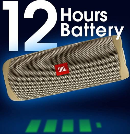 JBL Flip 5 Portable Waterproof Speaker, IPX7 - Sand | FLIP5-SAND
