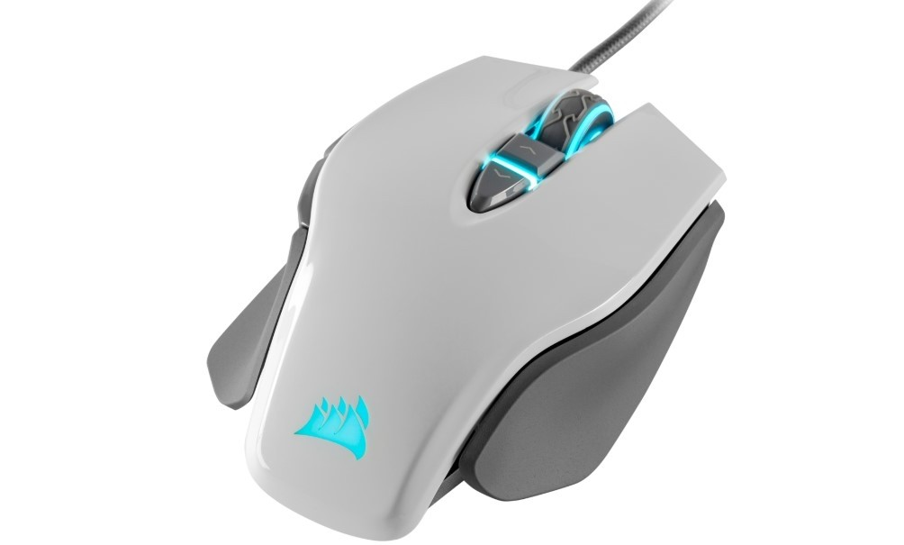 White Tunable Weights Adjustable DPI Sniper Button FPS Gaming Mouse 18,000 DPI Optical Sensor M65 RGB ELITE