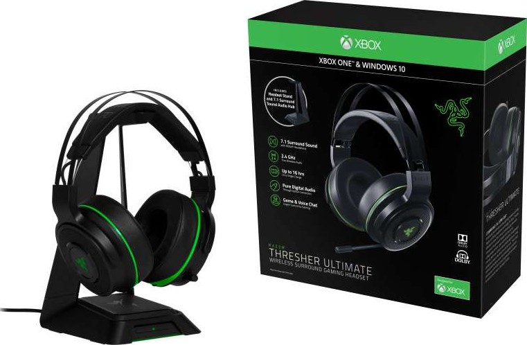 Razer Thresher Ultimate Wireless Gaming Headset Xbox One And Pc 7 1 Dolby Surround Sound With Retractable Microphone Rz04 01480100 R3a1 Buy Best Price Global Shipping