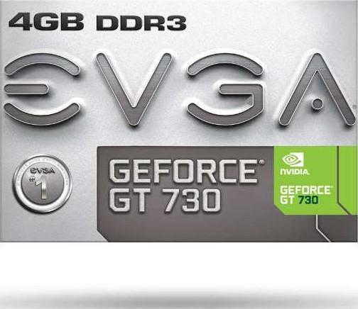 DVI /& HDMI EVGA Geforce GT 730 4GB 04G-P3-2739-KR Graphics Card