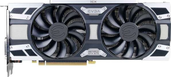 EVGA GeForce GTX 1070 SC2 GAMING, 8GB GDDR5, iCX 9 Thermal Sensors LED G P  M, Asynchronous Fan C