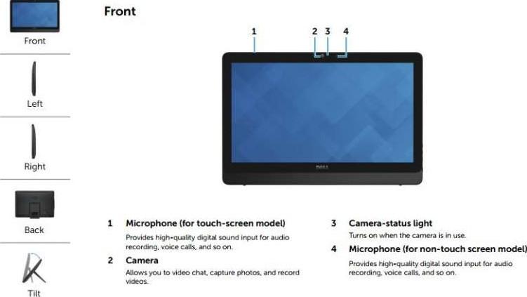 Dell Inspiron 20 3059 Aio Intel Core I3 6100u 3 Ghz 4 Gb