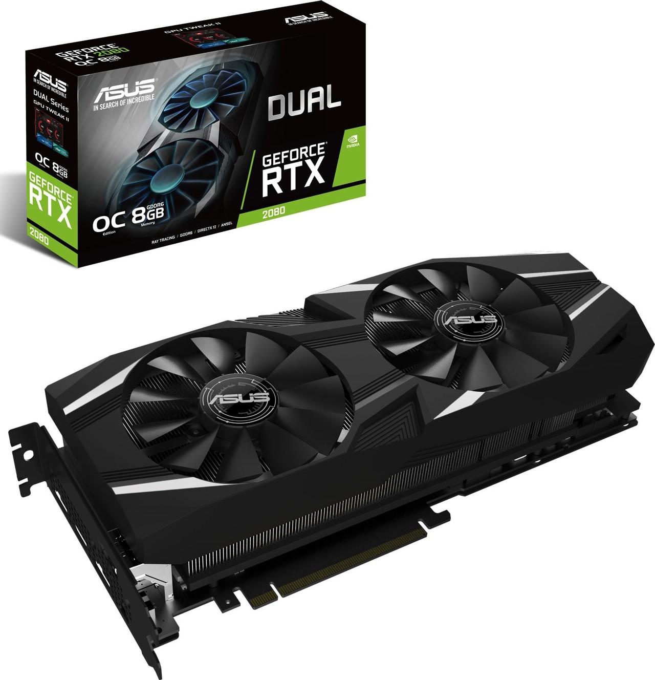 ASUS NVIDIA GeForce RTX 2080 8GB DUAL OC Turing Graphics Card 90YV0C30  M0NM00