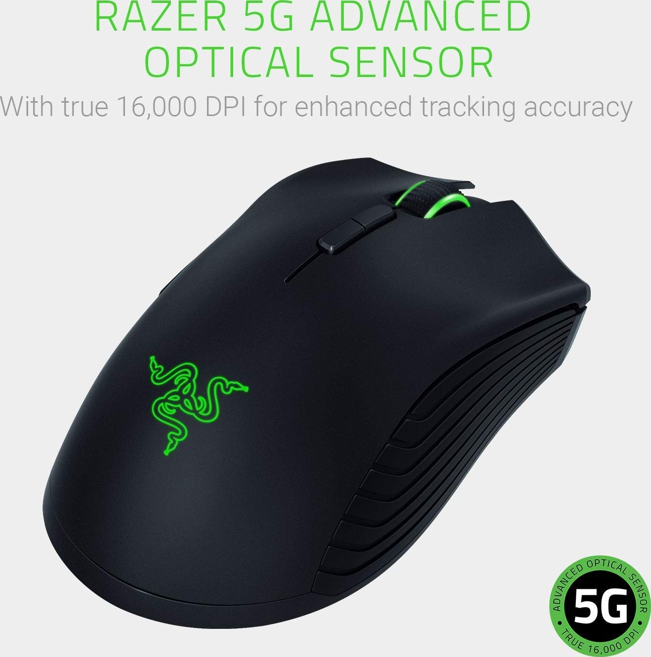e078a5b7709 Razer Mamba Wireless True 16,000 DPS 5G Optical Sensor - Wired/Wireless  Capability (50
