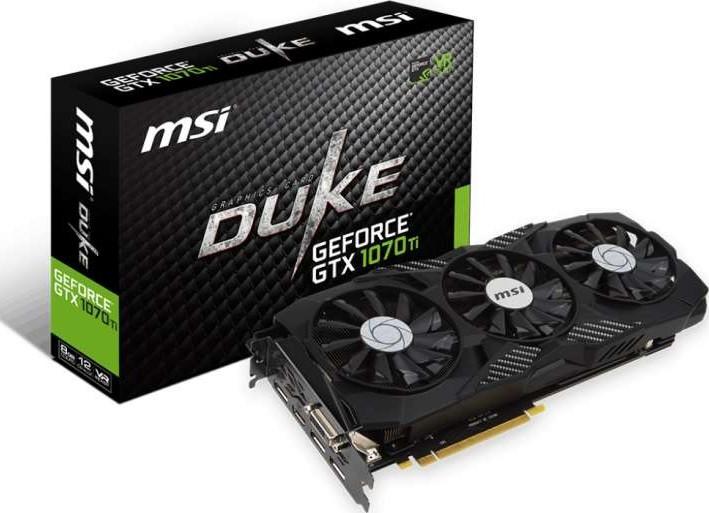 MSI GeForce GTX 1070 Ti DUKE 8G 8GB GDDR5, 256-bit, PCI-E x16 3.0, VR