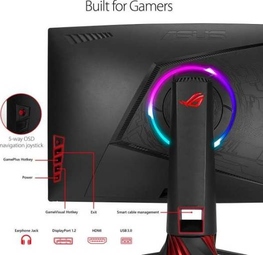ASUS ROG Strix XG35VQ Curved Gaming Monitor – 35 inch UWQHD (3440x1440), 100Hz, Adaptive-Sync(FreeSync™), Extreme Low Motion Blur | XG35VQ