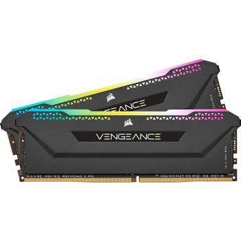 Corsair Vengeance RGB PRO SL 32GB (2 x 16GB) DDR4 DRAM 3600MHz C18 Desktop Memory - Black | CMH32GX4M2D3600C18