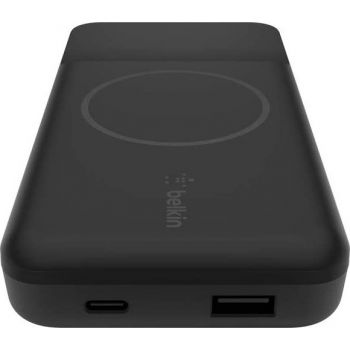 Belkin Wireless Portable Charger Power Bank Compatible with MagSafe, 10000 mAh with 7.5W Wireless Charging and 18W USB C Power Delivery in/out port for iPhone 12 Series - Black   745883822393