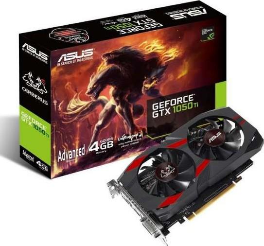 ASUS CERBERUS-GTX1050TI-A4G Cerberus GeForce GTX 1050 Ti Advanced Edit