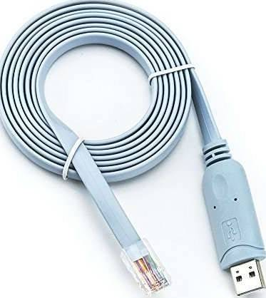 USB Console Cable USB to RJ45 Cable Essential Accesory for Routers/Switches in Laptops - Blue