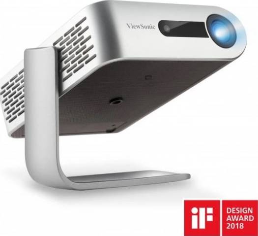 ViewSonic M1+_G2 Portable Smart Wi-Fi LED Portable Projector with Harman Kardon® Speakers Bluetooth HDMI USB Type C and Built-in Battery   VS18242