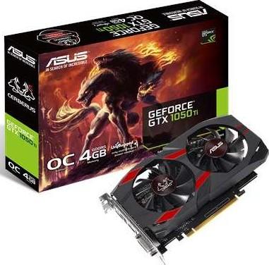ASUS CERBERUS-GTX1050TI-O4G Cerberus GeForce GTX 1050 Ti OC Edition 4G
