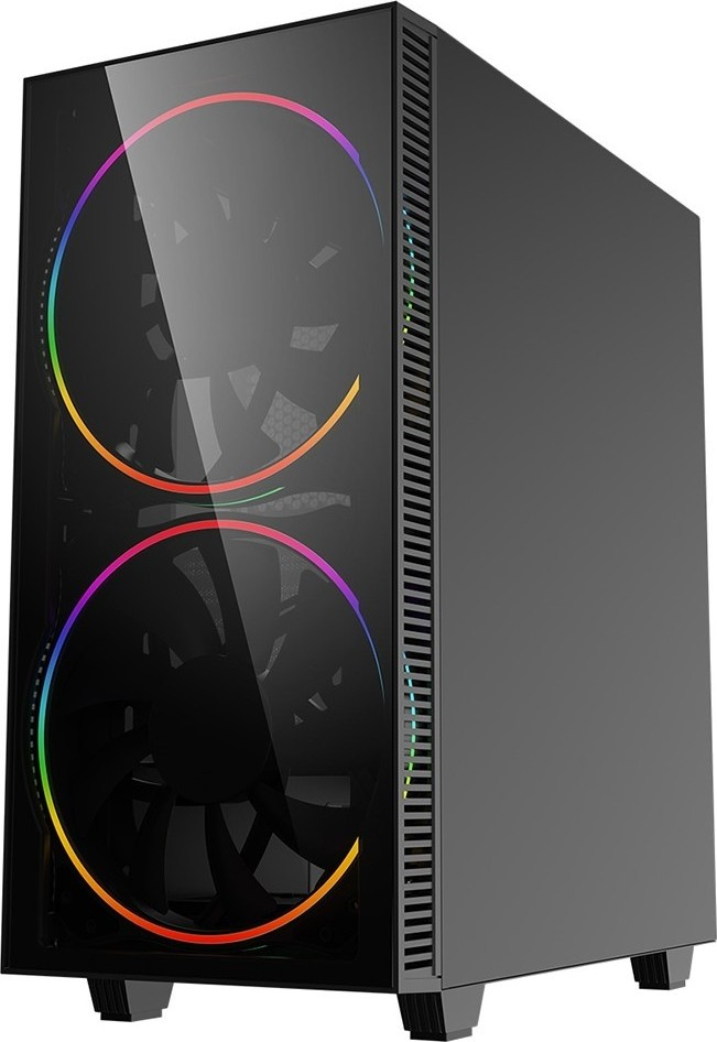 GameMax Black Hole ARGB Mid-Tower PC Gaming Case, ATX, 3 Pin AURA Sync, 2 x  200mm ARGB Fans Included, ARGB Hub, 5 Fan Support, Water-Cooling Ready    Black Buy, Best Price in