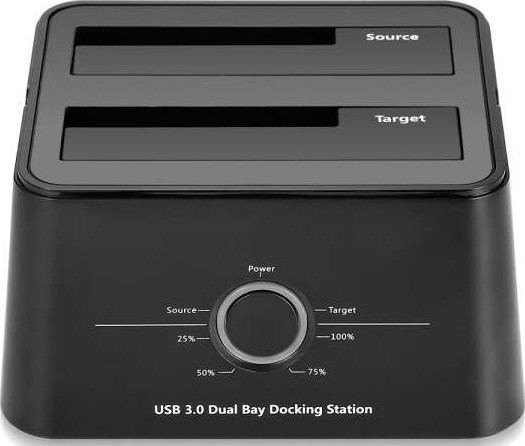 TwinMos DS2535-HD41P USB 3.0 Dual Slot HDD Docking Station for 2.5 / 3