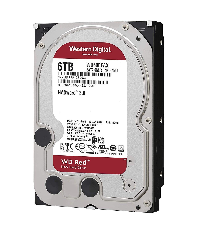 WD Red 6TB NAS Hard Disk Drive - 5400 RPM Class SATA 6Gb/s ...
