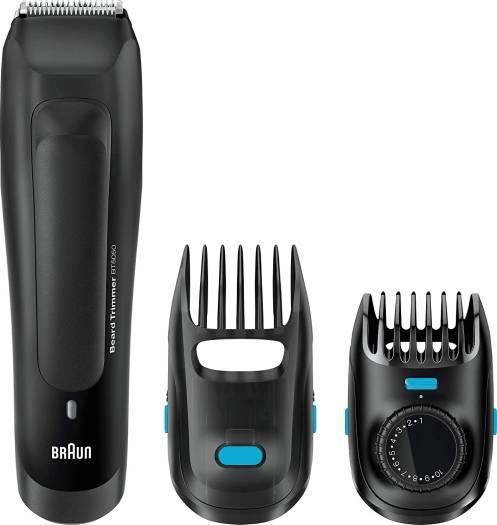 Braun BT5050 Beard Trimmer With 2 Comb Attachments + Soft Bag   BT5050