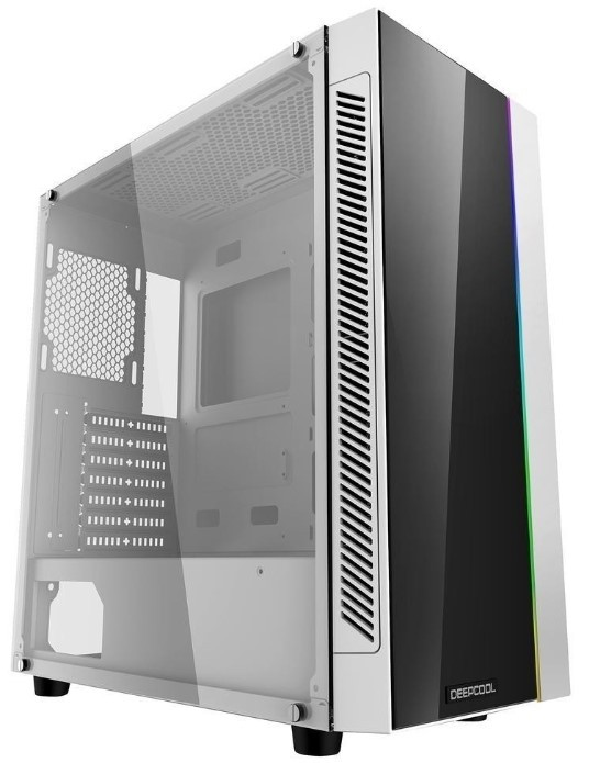Deepcool MATREXX 55 ADD RGB White ATX Mid Tower Case Full size Tempered  Glass Motherboard, SYNC Cont