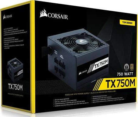 *Brand New* Corsair TX750M TX-M Series Modular 750W 80 Plus Gold Certified PSU