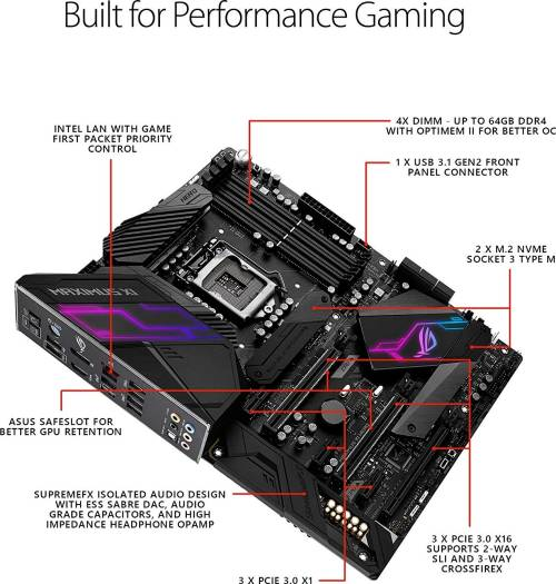 ASUS ROG MAXIMUS XI HERO Intel Z390 ATX Gaming Motherboard LGA1151 socket for 9th/8th, Aura Sync RGB LED, DDR4 4400MHz, Dual M.2, SATA 6Gb/s, and USB 3.1 x 3, Type-C x 1 | 90MB0XS0-M0EAY0