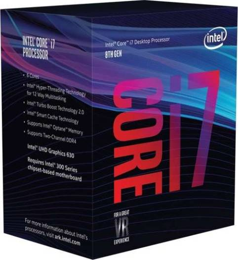 Intel Core i7-8700 Coffee Lake 8th Gen 6-Core 3.2 GHz LGA1151 Processor | BX80684I78700
