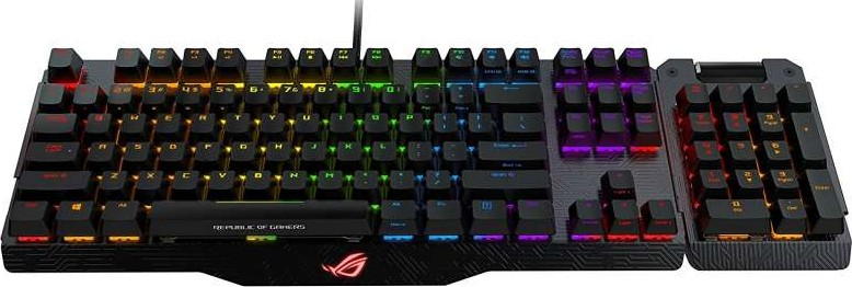 e7bc6abbbd6 Asus ROG Claymore mechanical gaming keyboard with a detachable numpad, Aura  Sync and Cherry MX