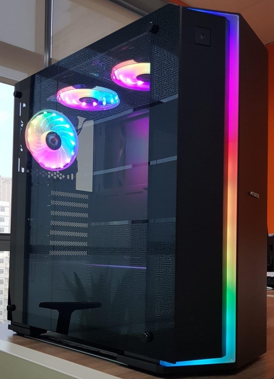 Tortox Magnus Tempered Glass Side Panel Rainbow Rgb Mid