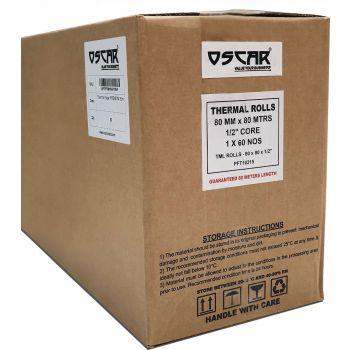 OSCAR Receipt Thermal POS Paper Roll 80mm, Bill Paper Receipt Roll 80 METERS Guaranteed Length, Thermal Receipt Cash Register Paper Roll (10)   MPPPRMNNN10NW10