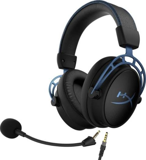 HyperX Cloud Alpha S Gaming Headset, Custom-tuned HyperX 7.1. surround sound - Blue | HX-HSCAS-BL/WW