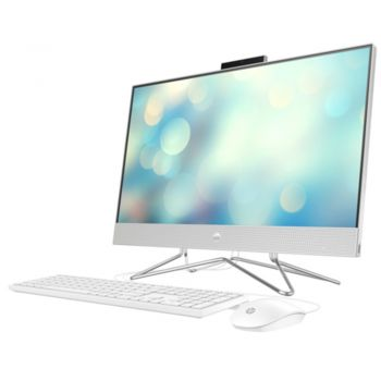 """HP All-in-One 24-DP1014NE 23.8"""" FHD Touch Laptop, Intel Core i7-1165G7-2.80GHz, 8GB RAM, 1TB HDD, Intel Iris XE Graphics, DOS, Silver   4L7J8EA"""