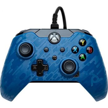 PDP Gaming Wired Controller for Xbox Series X S, Xbox One (049-012-EU-CMBL) – Camo Blue   049-012-EU-CMBL