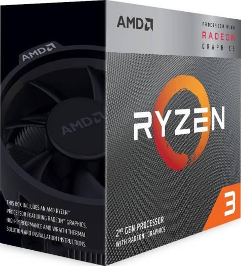 AMD Ryzen 3 3200G w/ RADEON™ RX VEGA 8 Graphics 3rd Gen, AM4, Zen+, Quad Core, 4 Thread, 3.6GHz, 4.0GHz Turbo, 4MB, 65W, CPU with Wraith Stealth Cooler | YD3200C5FHBOX