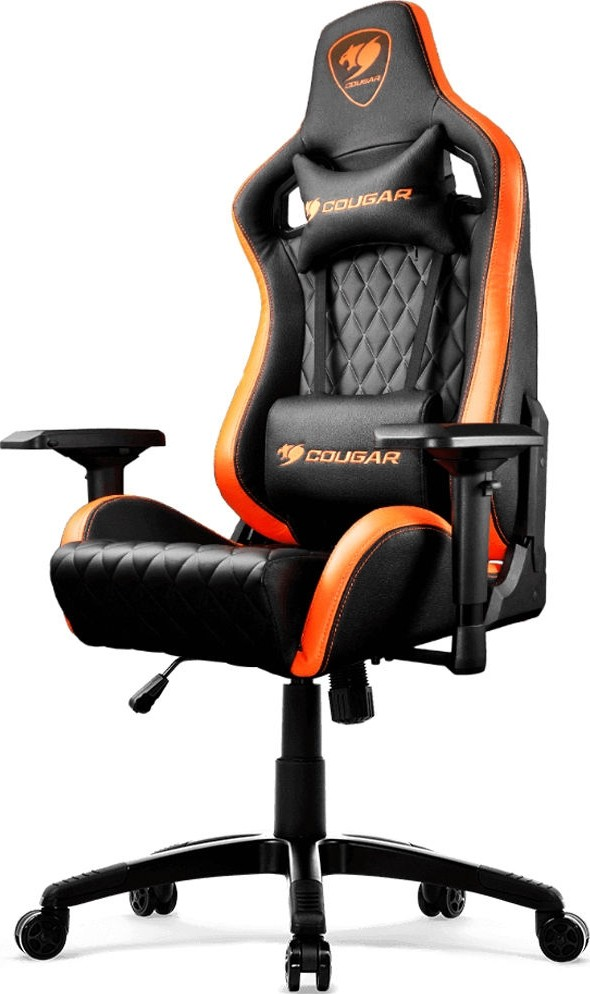 Fantastic Cougar Armor S Gaming Chair Black And Orange Cg Chair Armor S Blk Andrewgaddart Wooden Chair Designs For Living Room Andrewgaddartcom