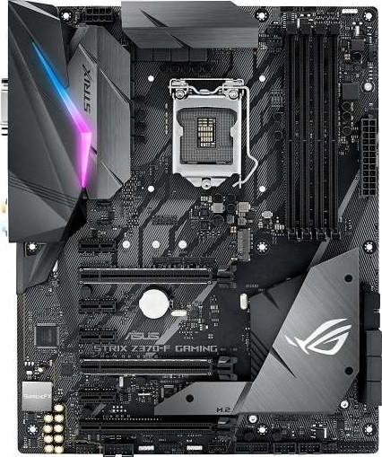 ASUS ROG STRIX Z370 F Gaming LGA1151 Intel Z370 ATX Motherboard with Aura  Sync RGB LED lighting, DDR