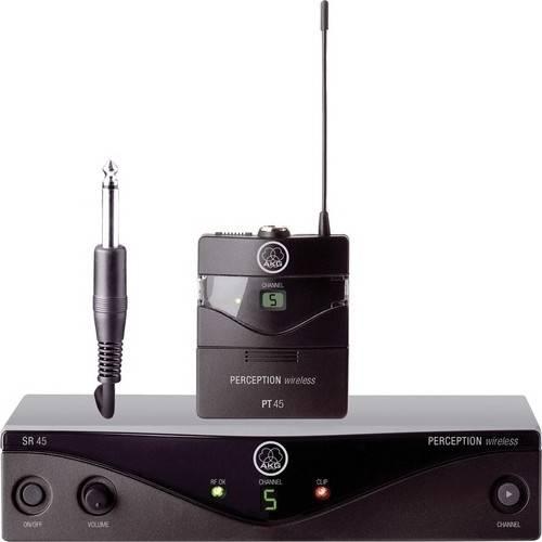 AKG Perception Wireless 45 Instrumental Set Band-A High-Performance Wireless Microphone System - Black   3250H00010