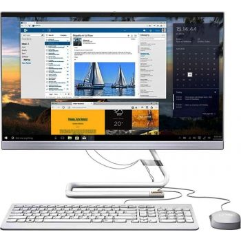 """Lenovo AIO 3 23.8"""" FHD Touch Screen Desktop Computer, Intel Core i7 10700T, 8GB RAM, 1TB HDD, 2GB Graphics, With Keyboard and Mouse, DOS, White   F0EU00ARAX"""