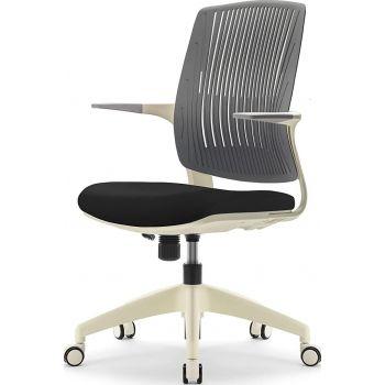 Navodesk Basic Chair, Ergonomic Desk Chair, Office & Computer Chair For Home & Office - Black & White | BASIC-BKW