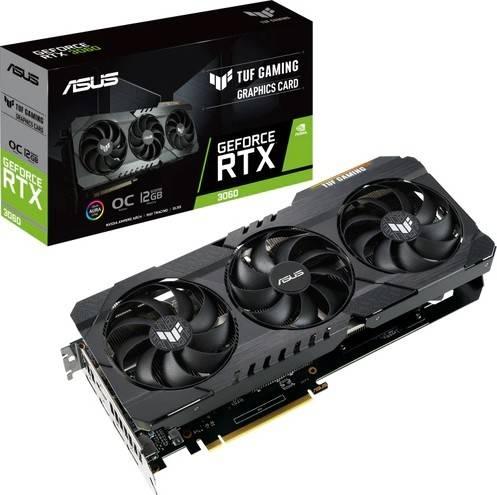 Asus TUF RTX3060-O12G Gaming GeForce RTX 3060 OC Edition 12GB GDDR6, 192bit, PCI Express 4.0, NVIDIA® GeForce RTX™ 3060, Graphic Card   90YV0GC0-M0NA00