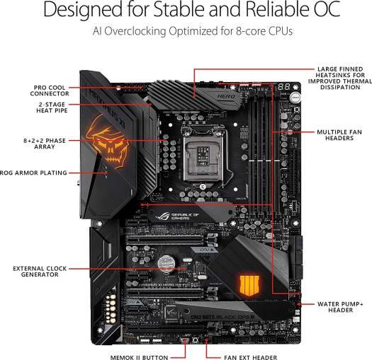 Asus ROG MAXIMUS XI HERO (WI-FI) Call of Duty - Black Ops 4 Edition Intel Z390 LGA1151 (9th / 8th Gen) DDR4 ATX Intel Motherboard | 90MB0XR1-M0EAY0