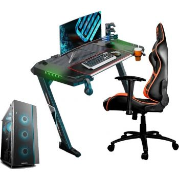 """FULL SETUP Gaming PC (AMD Ryzen 5 3600,RTX 2060 Gaming ,16GB RAM,250GB M.2+1TB HDD, 650W PSU, RGB Cooler + 144Hz 1MS 24"""" FHD Monitor +Gaming Keyboard-Mouse-Headset-Gaming Chair and Table)"""