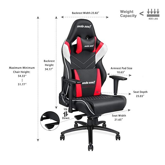 Awesome Anda Seat Assassin King Series Gaming Chair Frog Tray Big Lumbar Pillow Headrest Pillow 65Mm Caster Caraccident5 Cool Chair Designs And Ideas Caraccident5Info