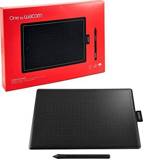 One By Wacom Digital Graphic Drawing Tablet Pad, Small - Black/Red | CTL-472-N