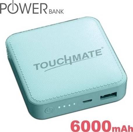 Touchmate 6000 mAh Mini Power Bank, Slim and Portable | TM-EC600